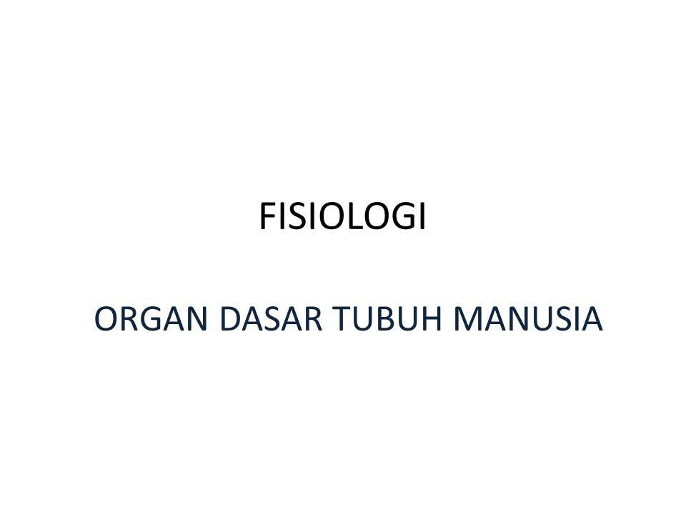 FISIOLOGI ORGAN DASAR TUBUH MANUSIA