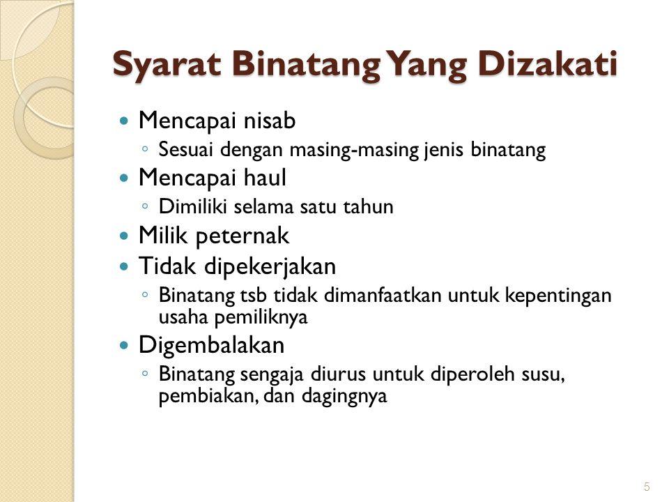 6.Zakat Hasil Laut Jumhur ulama berpendapat bahwa hasil lautan tidak wajib dizakati.