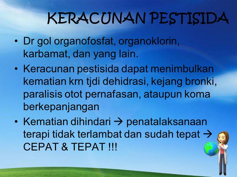 KLASIFIKASIBENTUK KIMIABAHAN ACTIVEKETERANGAN 1. INSEKTISIDA Botani Carbamat Organophosphat Organochlorin Nikotine Pyrethrine Rotenon Carbaryl Carbofu