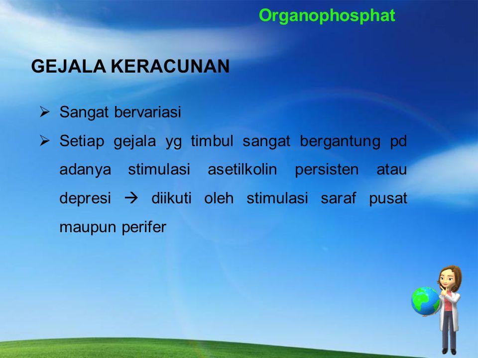 Organophosphat Tabel Nilai LD50 insektisida organofosfat