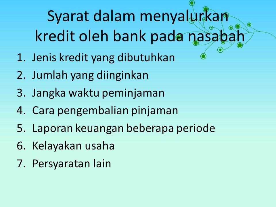 JENIS KREDIT YANG DIBAHAS a.Kredit dalam arti pemberian atau penyaluran dalam bentukm uang atau dana.