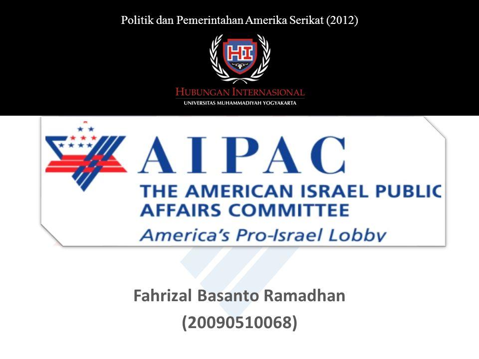Fahrizal Basanto Ramadhan (20090510068) Politik dan Pemerintahan Amerika Serikat (2012)