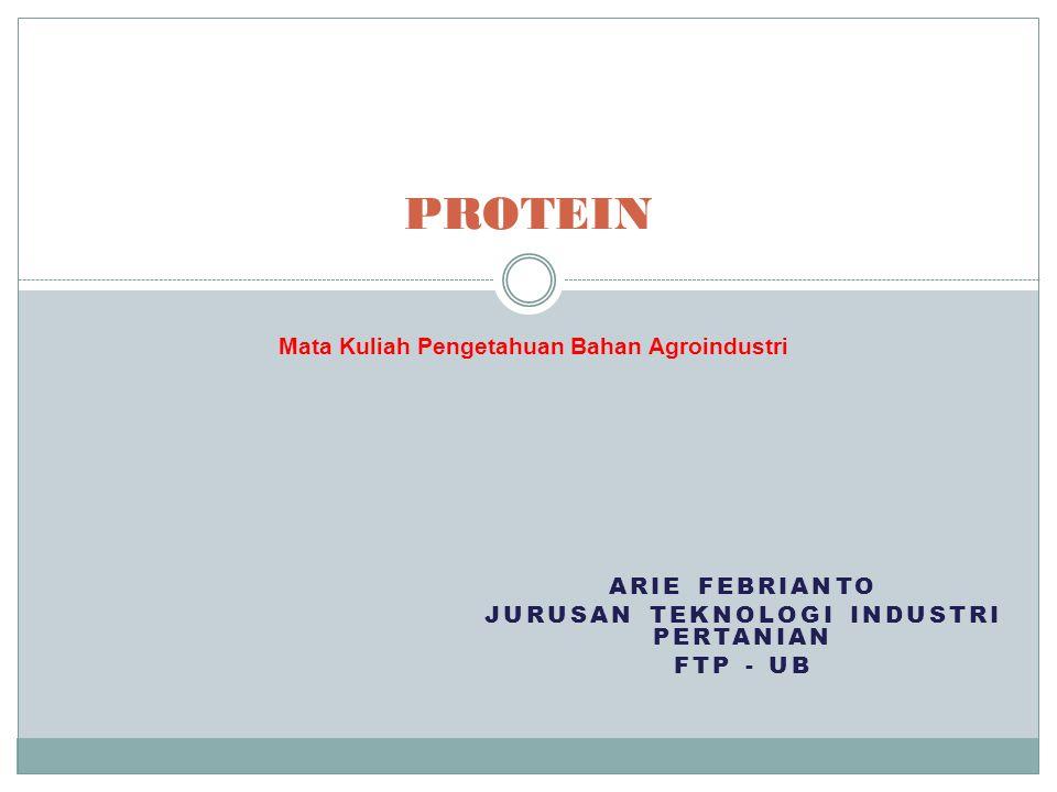 Pengertian Protein adalah polimer dari asam amino yang dihubungkan dengan ikatan peptida yang mengandung unsur-unsur C, H, O, dan N.