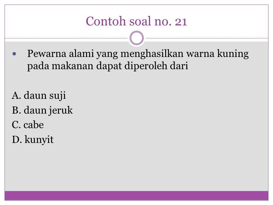 Contoh soal no.23 Perhatikan gambar berikut ini.