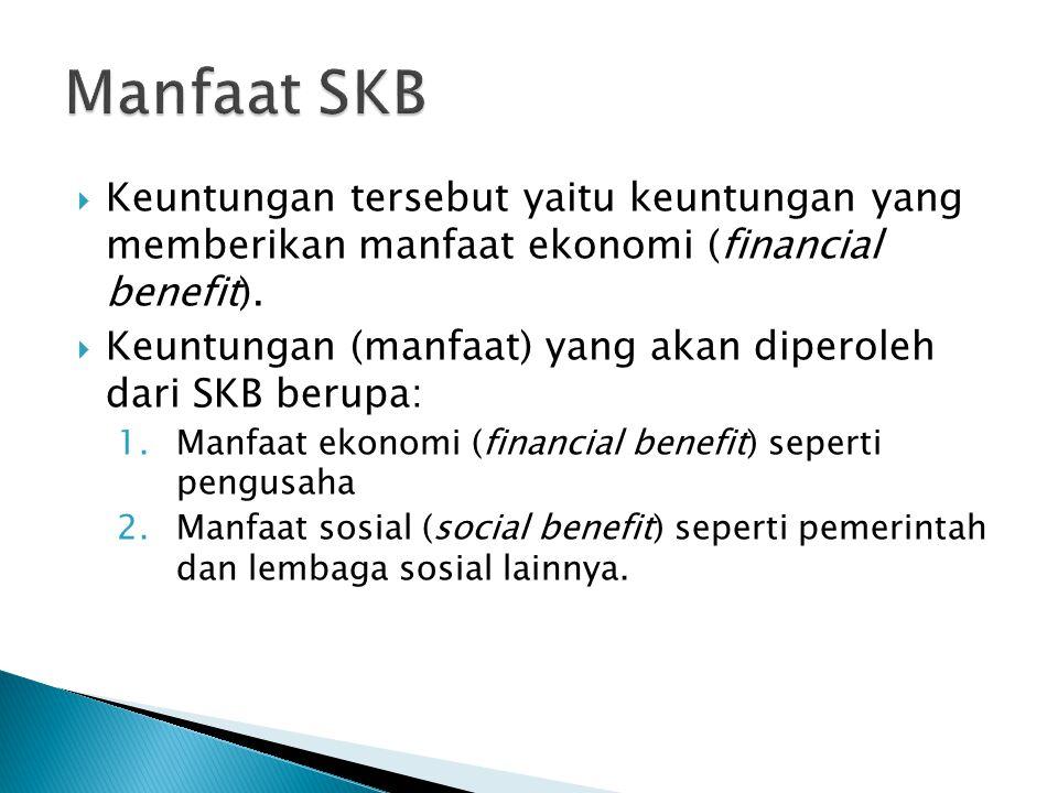  Keuntungan tersebut yaitu keuntungan yang memberikan manfaat ekonomi (financial benefit).