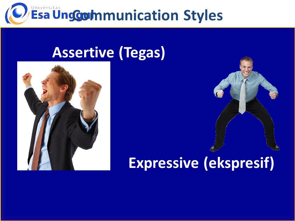 Assertive (Tegas) Expressive (ekspresif)