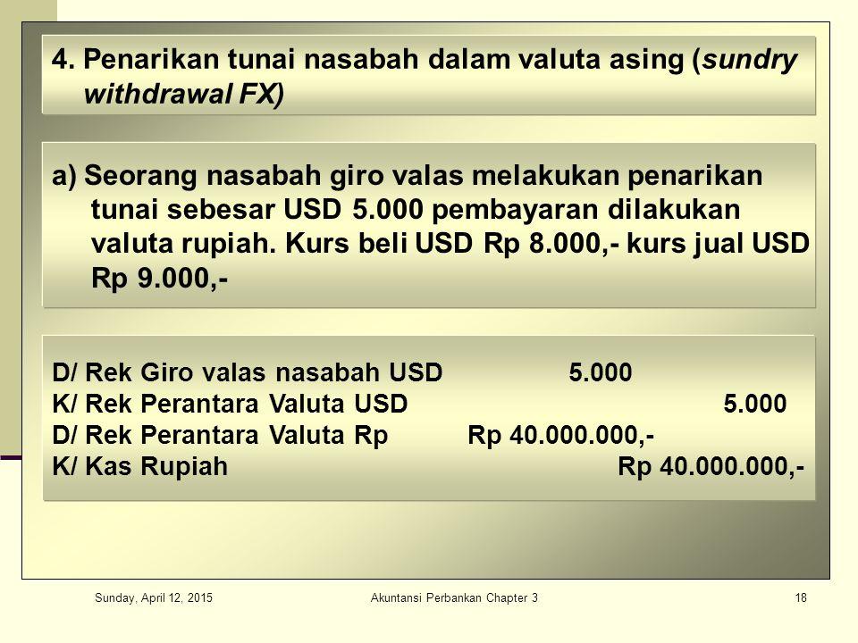 Sunday, April 12, 2015 Akuntansi Perbankan Chapter 318 4.