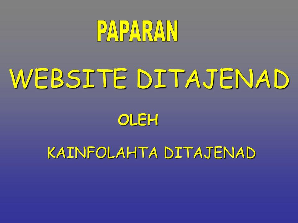 2 Maksud.Untuk m'berikan gambaran ttg kondisi website Ditajenad Tujuan.