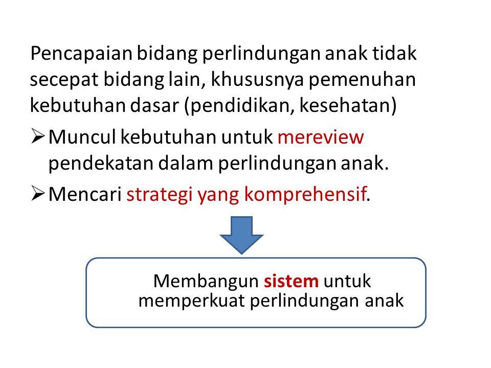 Intervensi yang komprehensif meliputi: 1.Pencegahan (Intervensi Primer), yang ditujukan ke semua anak dan keluarganya.