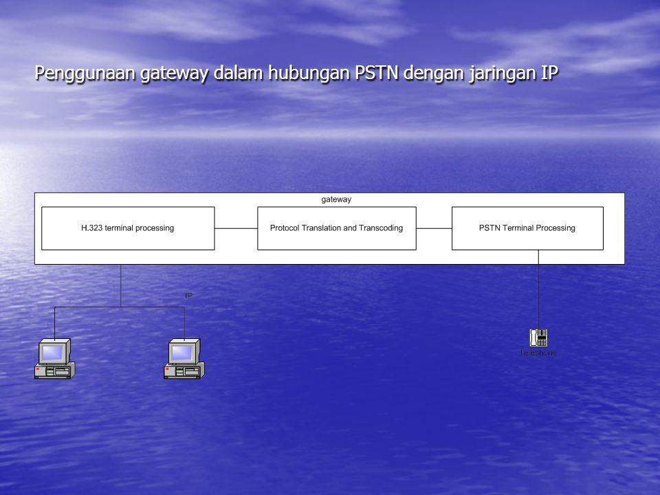 Penggunaan gateway dalam hubungan PSTN dengan jaringan IP