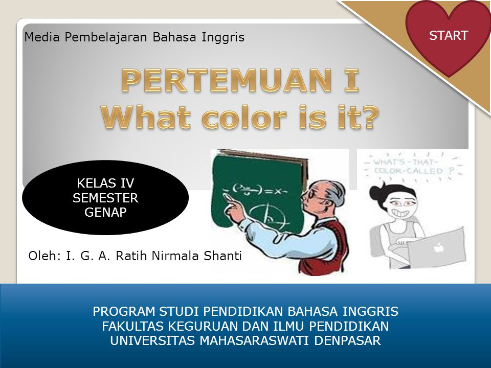 Read and say PENGERTIANPENGERTIAN MATERI CONTOH SOAL TUGASTUGAS Prev.HOME NextMATERIMATERI This book is blue Show me the color blue Right Show me the color red This eraser is red Sorry, your answer is wrong.