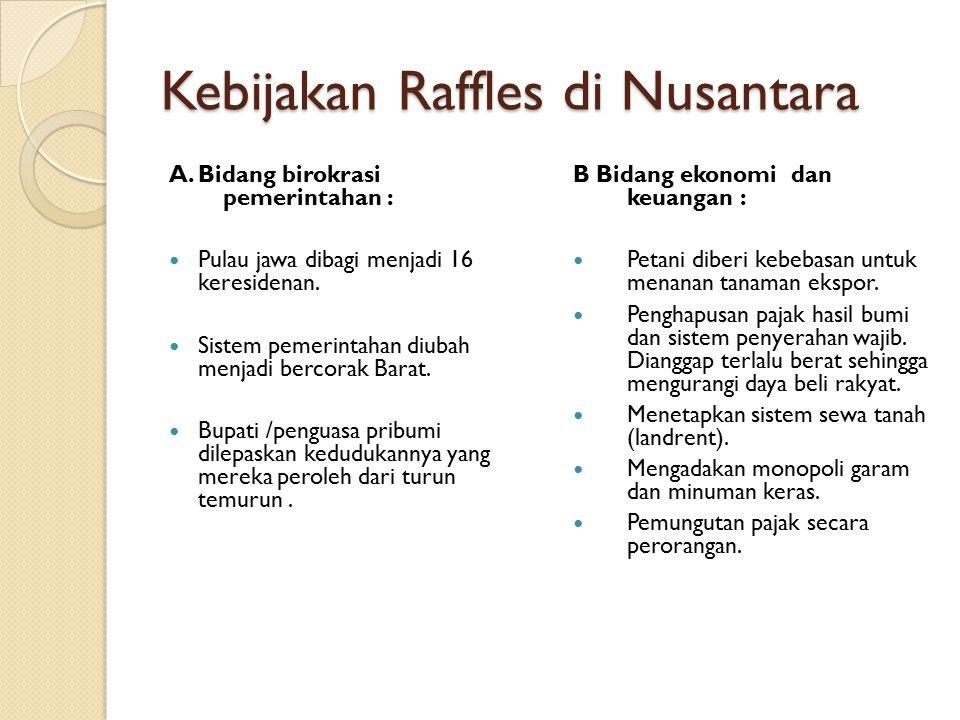 Kebijakan Raffles di Nusantara A.