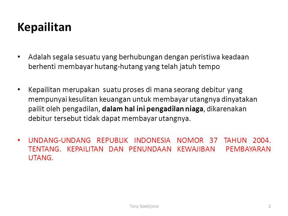 Contoh kasus PT Dirgantara Indonesia  vs karyawan Televisi pendidikan Indonesia  vs Crown Capital Global Limited (CCGL).