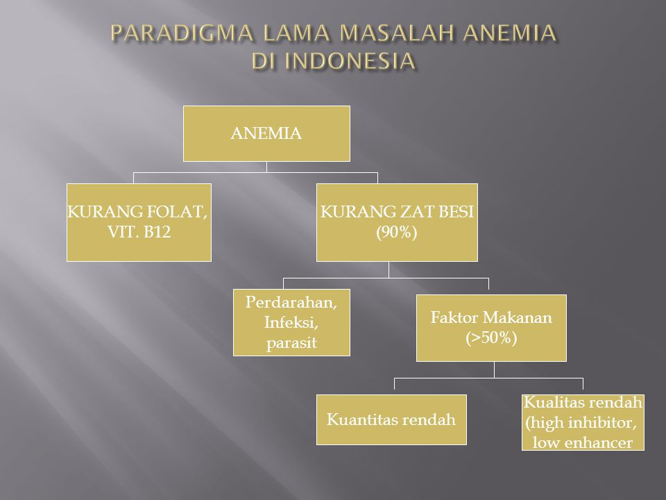 ANEMIA IS A PROBLEM WITH MULTIFACTOR CAUSES