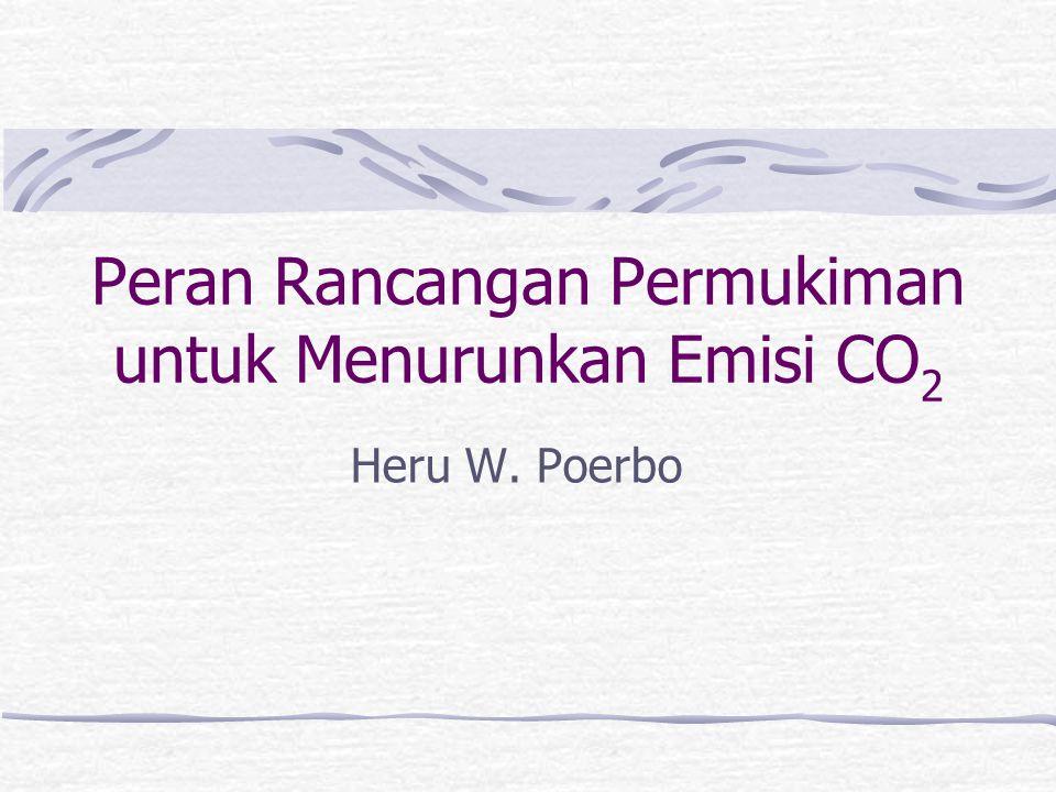 Peran Rancangan Permukiman untuk Menurunkan Emisi CO 2 Heru W. Poerbo