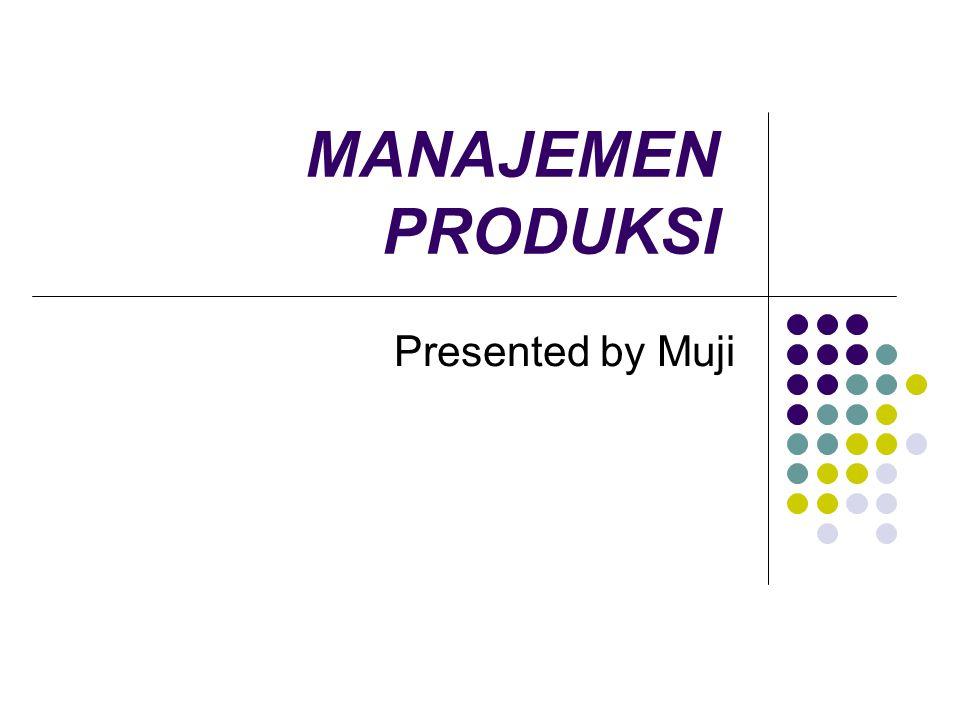 MANAJEMEN PRODUKSI Presented by Muji