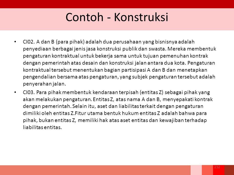 Contoh - Konstruksi CI02.