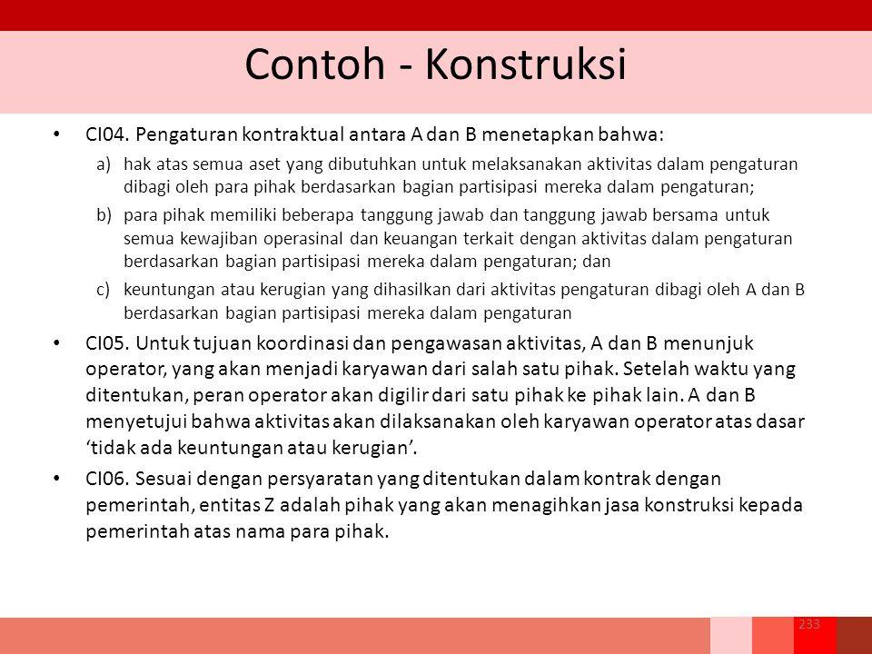 Contoh - Konstruksi CI04.