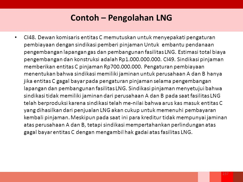 Contoh – Pengolahan LNG CI48.