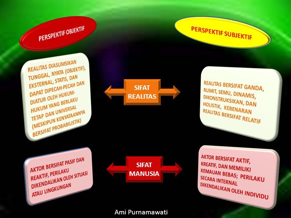 SIFAT REALITAS SIFAT MANUSIA Ami Purnamawati