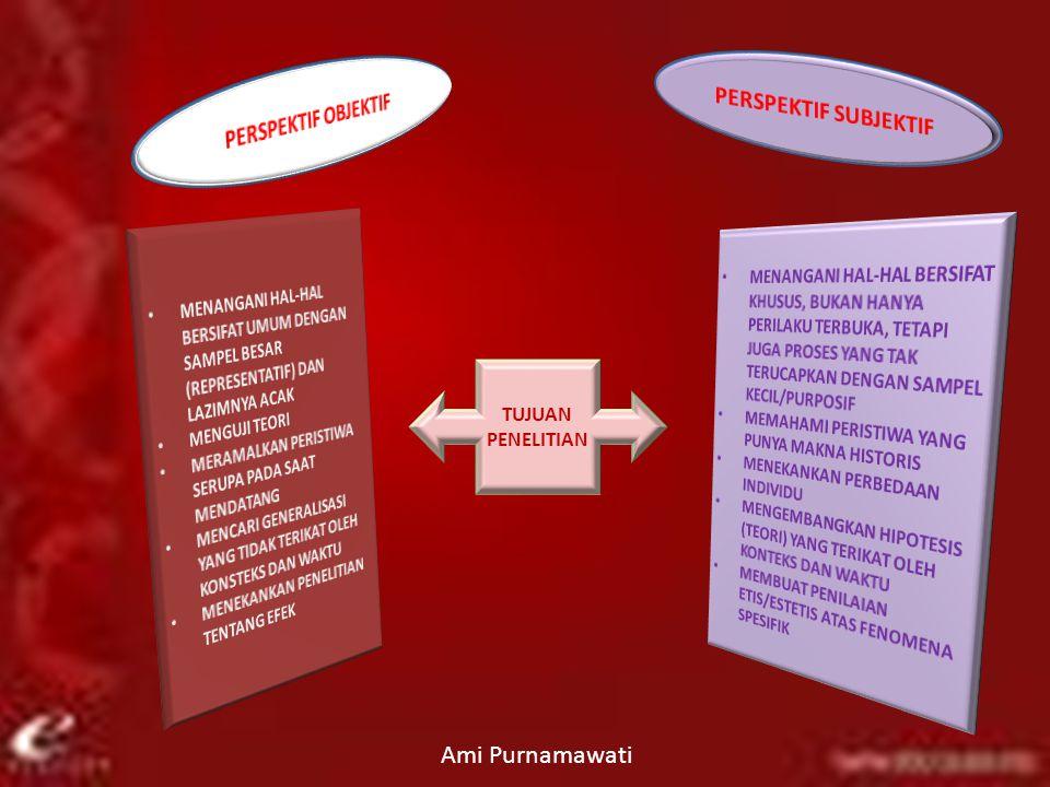 TUJUAN PENELITIAN Ami Purnamawati