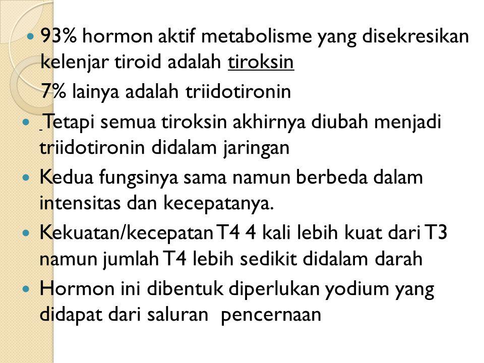 Kedua hormon ini bila dilepaskan didalam sel segera berikatan dengan protein plasma.