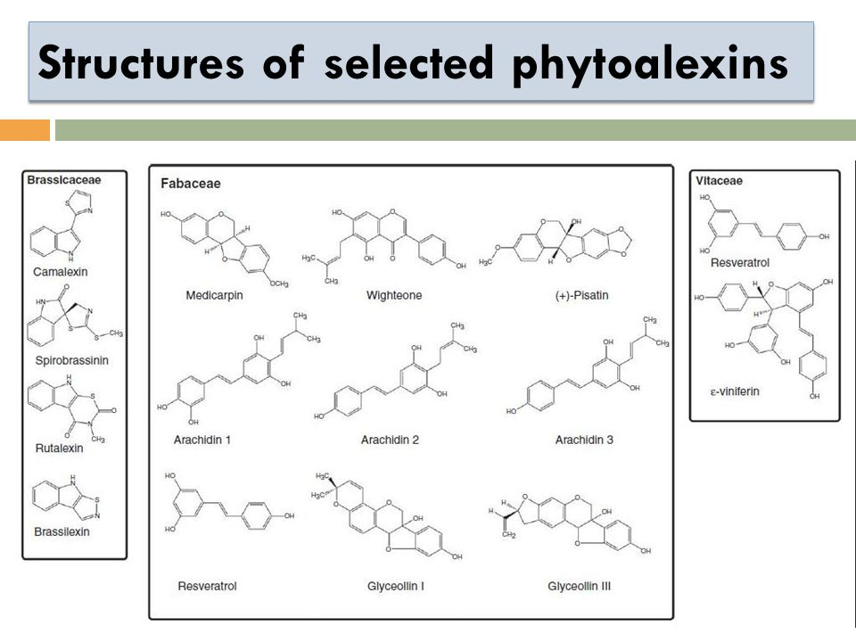 Structures of selected phytoalexins