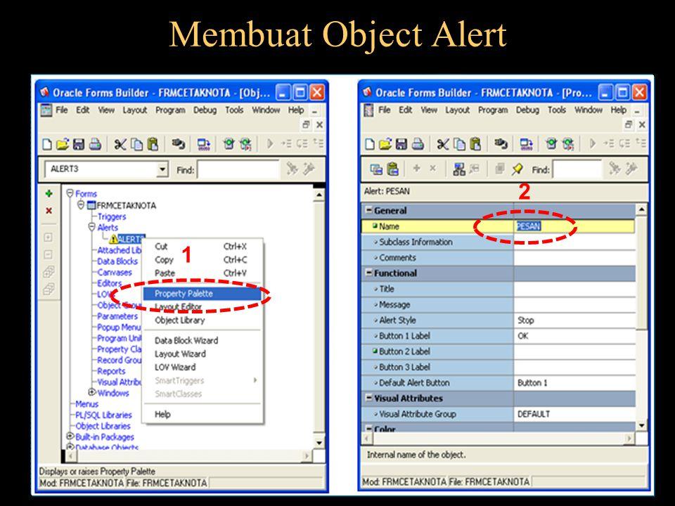 Membuat Object Alert 1 2