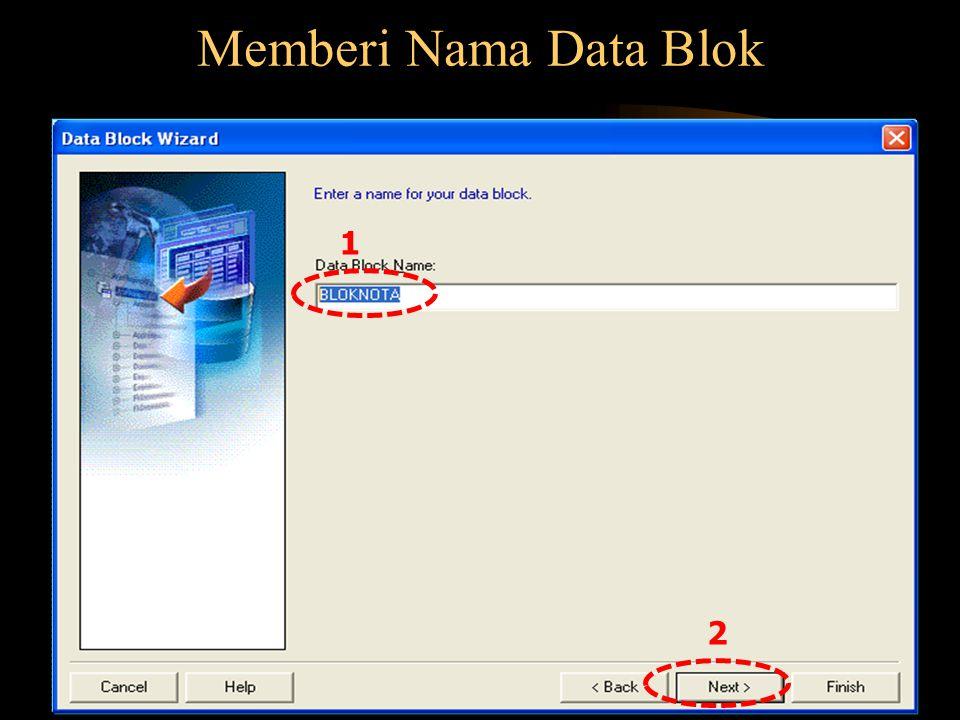 Memberi Nama Data Blok 2 1