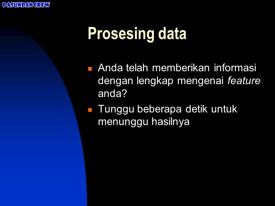 Cek dulu! Apakah data yang Anda masukkan sudah benar?  Sudah Sudah  Belum Belum