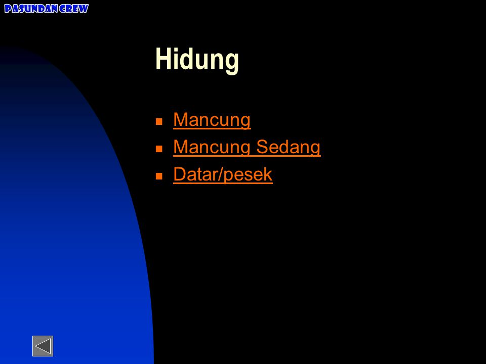 Hidung Mancung Mancung Sedang Datar/pesek