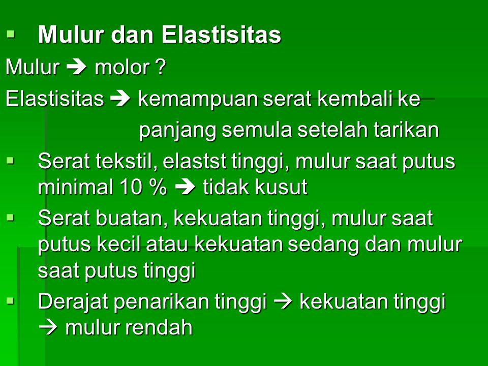  Mulur dan Elastisitas Mulur  molor .
