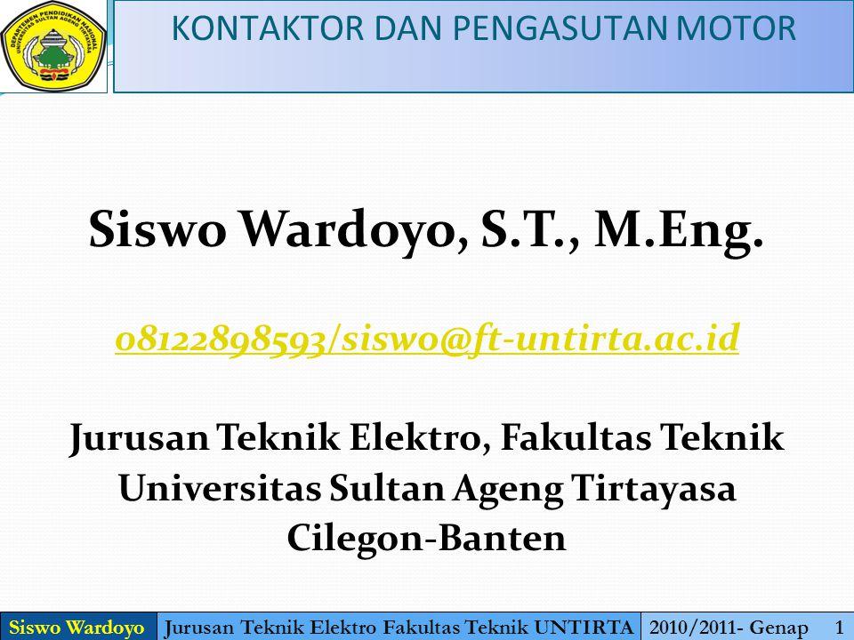 Siswo Wardoyo, S.T., M.Eng.