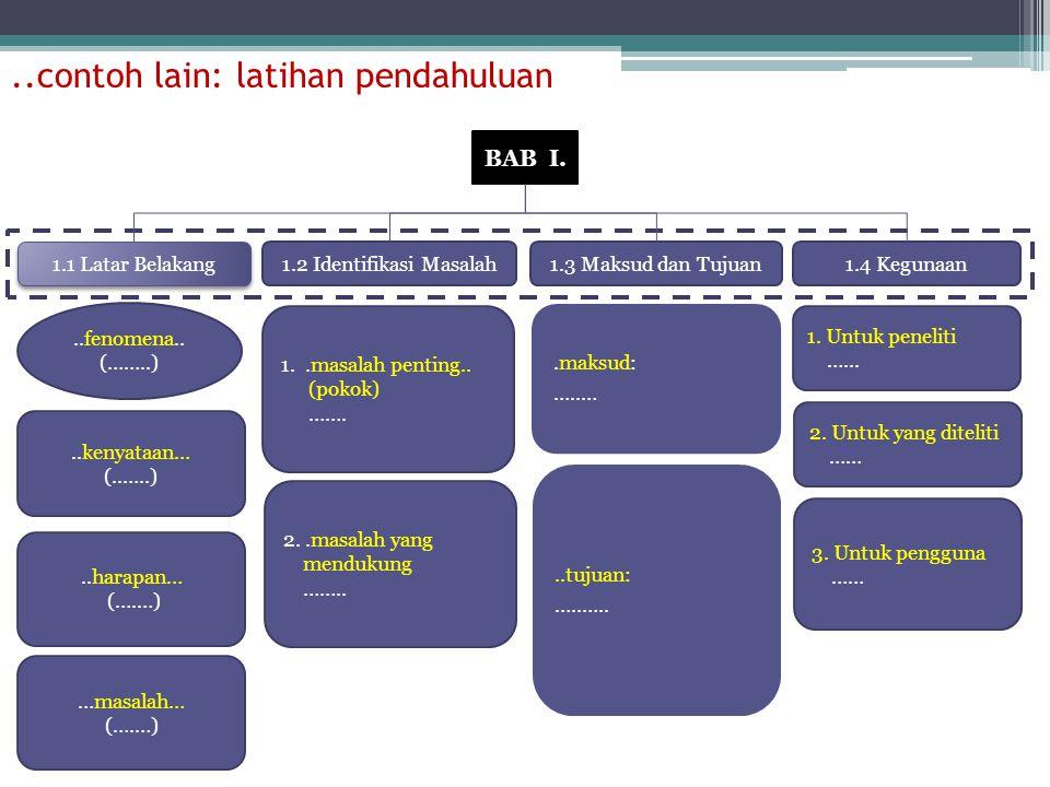 ..contoh lain: latihan pendahuluan BAB I.