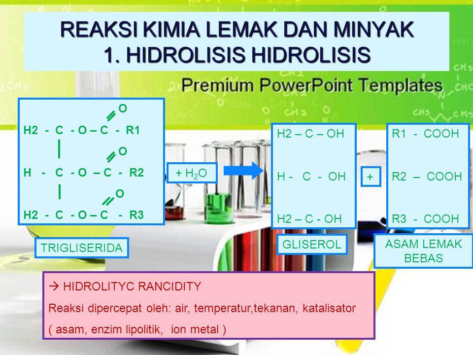 Dalam teknologi makanan, hidrolisis oleh enzim lipase sangat penting karena enzim tersebut terdapat pada semua jaringan yang mengandung minyak. Dengan