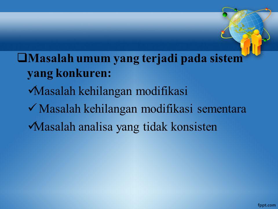 MASALAH KEHILANGAN MODIFIKASI