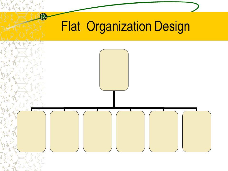 Flat Organization Design