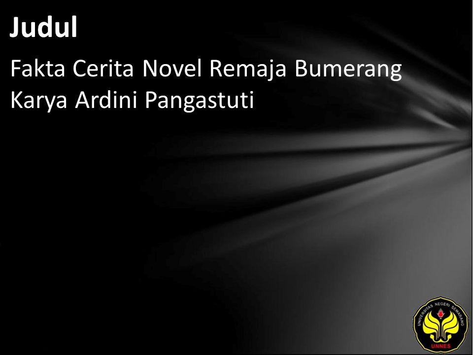 Abstrak SARI Sari,Hestina Medika.2010. Fakta Cerita Novel Remaja Bumerang Karya Ardini Pangestuti.