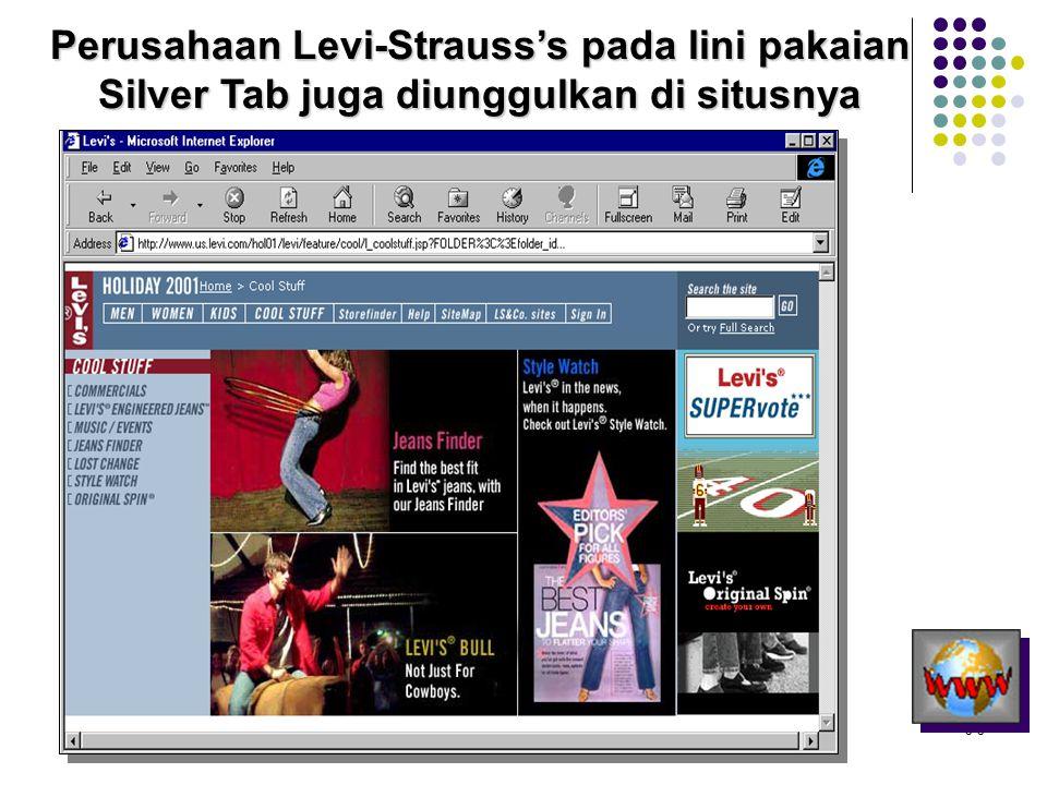 5-5 Perusahaan Levi-Strauss's pada lini pakaian Silver Tab juga diunggulkan di situsnya