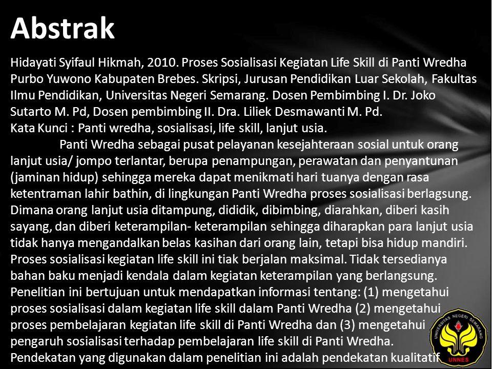 Abstrak Hidayati Syifaul Hikmah, 2010.