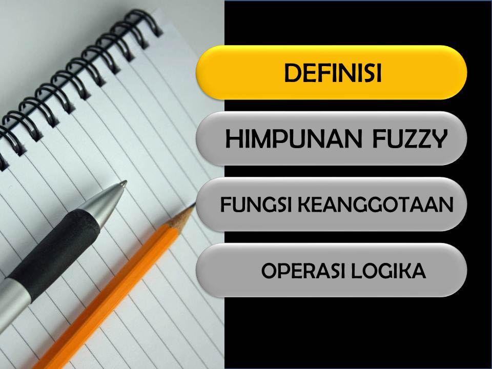 DEFINISI Logika fuzzy adalah suatu cara yang tepat untuk memetakan suatu ruang input ke dalam suatu ruang output.