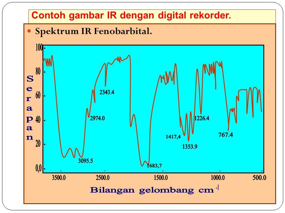 Contoh gambar IR dengan digital rekorder. 47 Spektrum IR Fenobarbital.