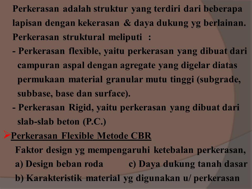 Topic Six Perencanaan Perkerasan Struktural  Flexible Pavement : - Metode CBR - Metode FAA - Metode LCN  Rigid Pavement: - Metode FAA - Metode PCA -