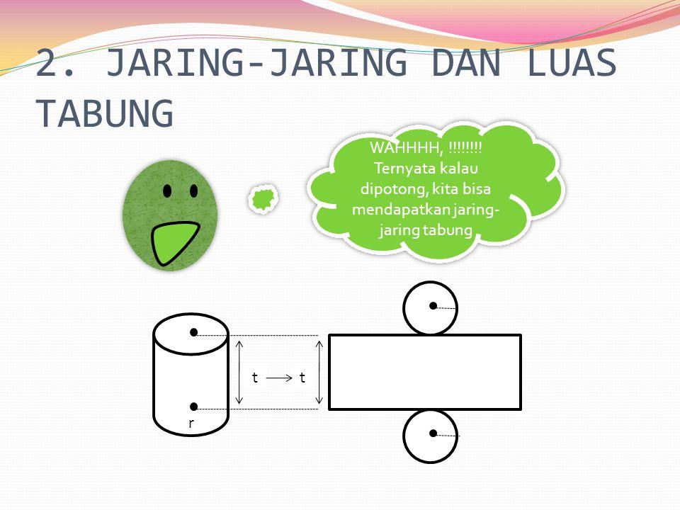 2.JARING-JARING DAN LUAS TABUNG WAHHHH, !!!!!!!.