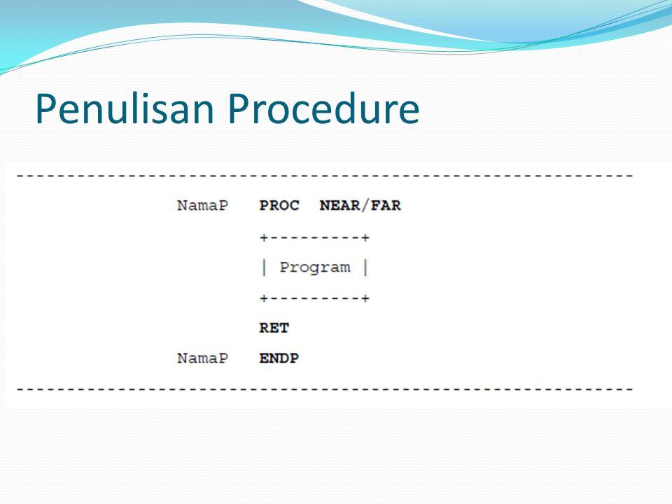 Penulisan Procedure