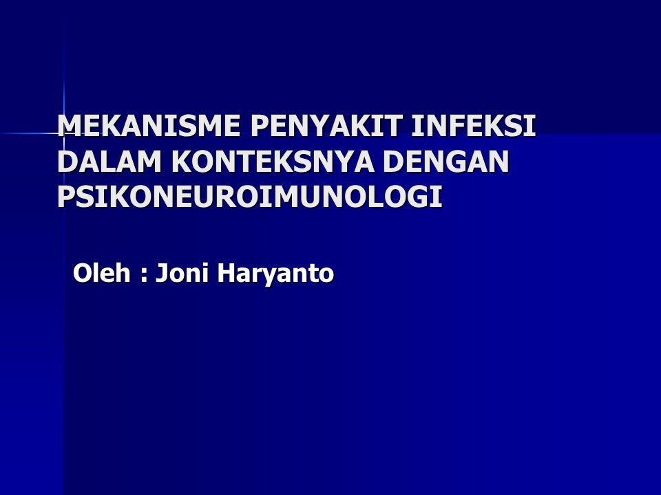 MEKANISME PENYAKIT INFEKSI DALAM KONTEKSNYA DENGAN PSIKONEUROIMUNOLOGI Oleh : Joni Haryanto