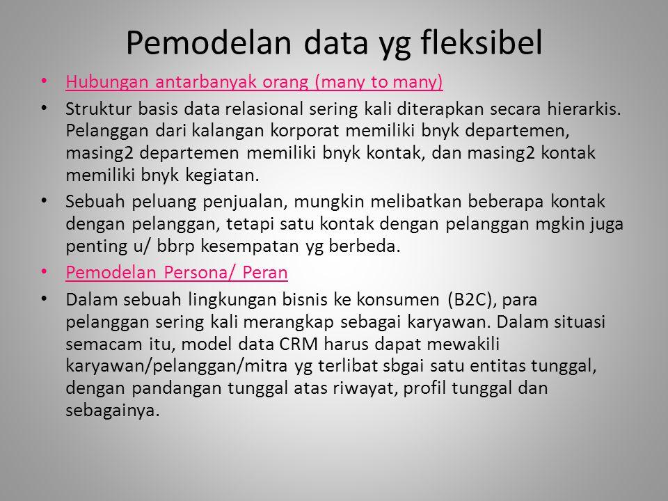 Pemodelan data yg fleksibel Hubungan antarbanyak orang (many to many) Struktur basis data relasional sering kali diterapkan secara hierarkis.
