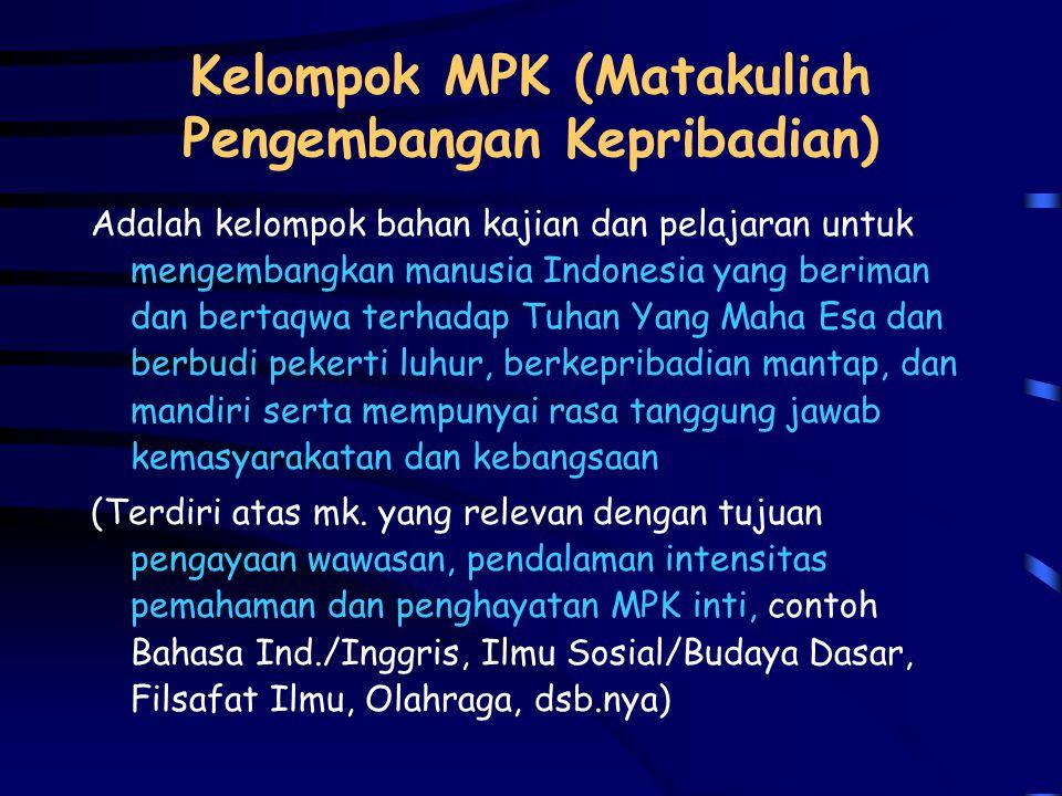 Elemen Kompetensi a.Landasan kepribadian (MPK) b.Penguasaan ilmu dan keterampilan (MKK) c.Kemampuan berkarya (MKB) d.Sikap dan perilaku dalam berkarya
