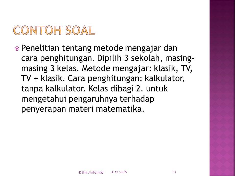  Penelitian tentang metode mengajar dan cara penghitungan.