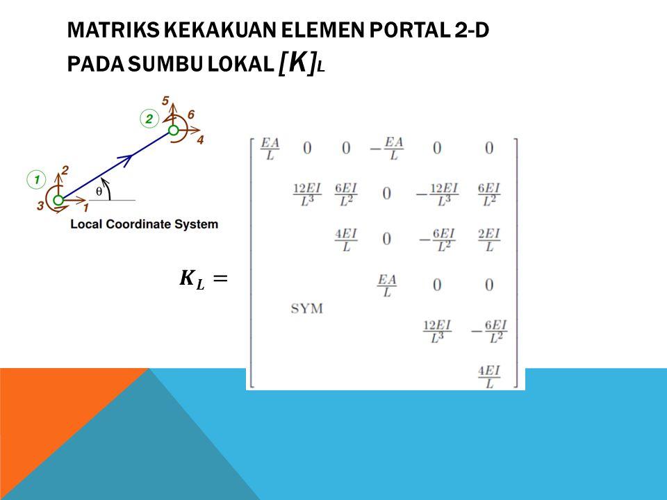 MATRIKS KEKAKUAN ELEMEN PORTAL 2-D PADA SUMBU LOKAL [K] L